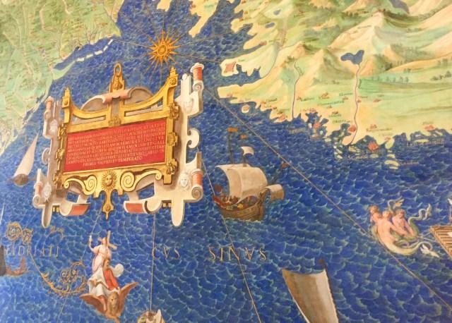 Exhibit in the Gallery of Maps Vatican Museum