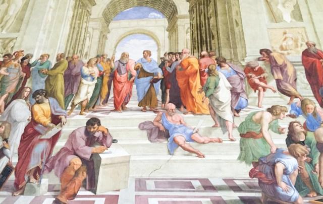 Raphael's School of Athens fresco Vatican Museums