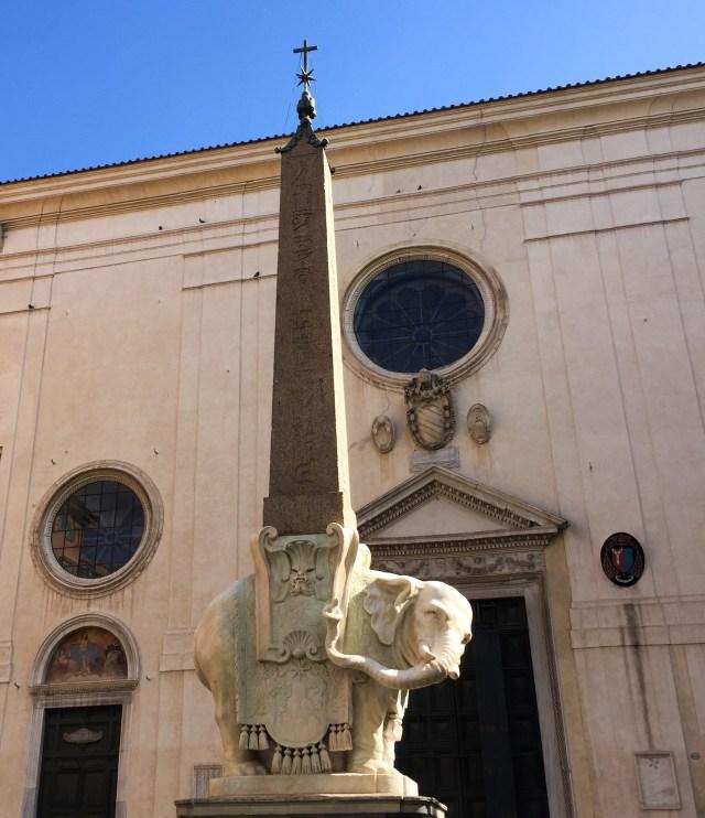 Elephant and Obelisk by Bernini Rome Italy