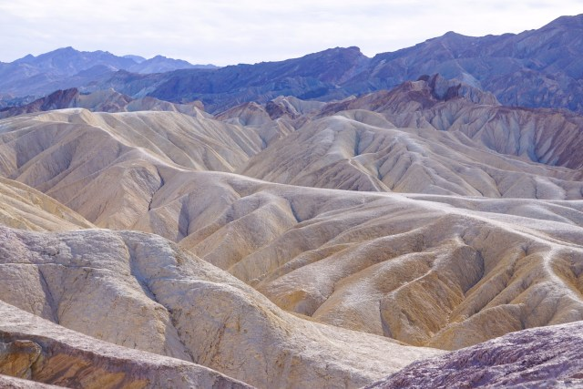 View from Zabriskie Point in Death Valley National Park California
