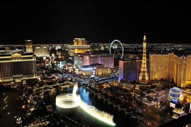 Las Vegas view from above