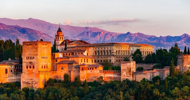 Palace of Charles V at the Alhambra in Granada Spain