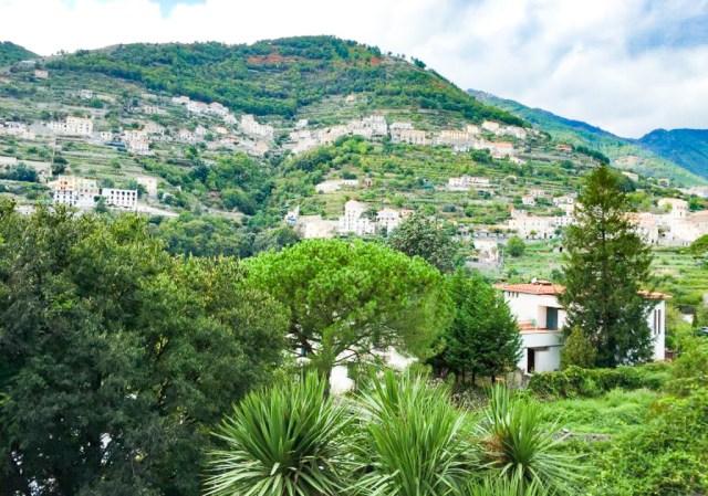 The emerald hills surrounding Ravello on the Amalfi Coast of Italy