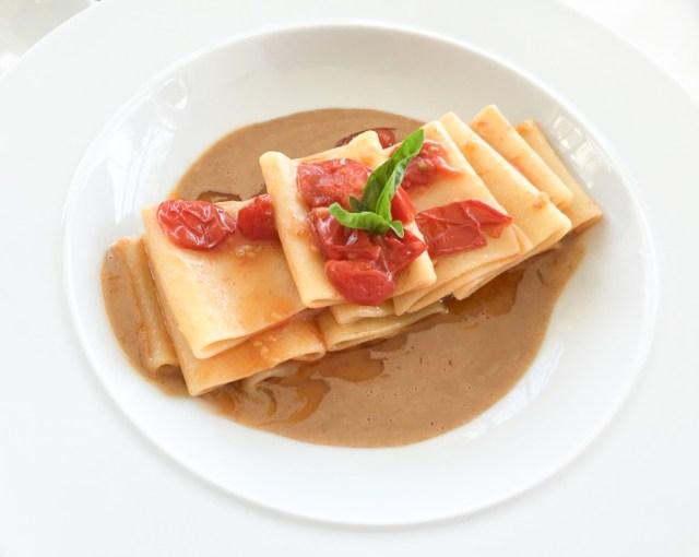 A pasta meal on the Amalfi Coast of Italy