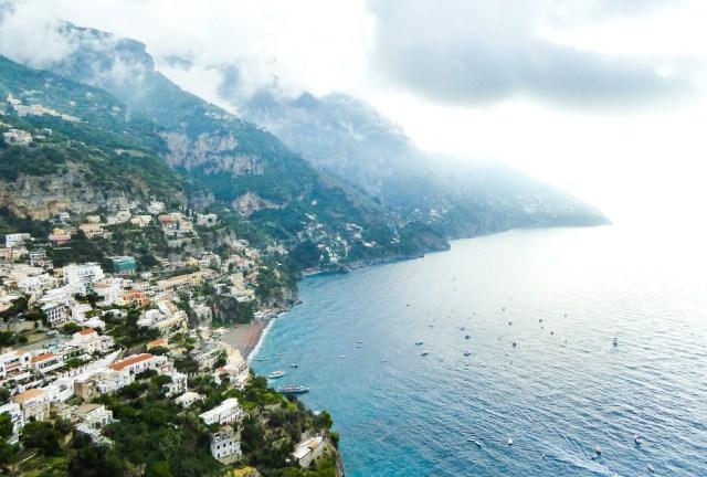 A view of Positano on the Amalfi Coast of Italy