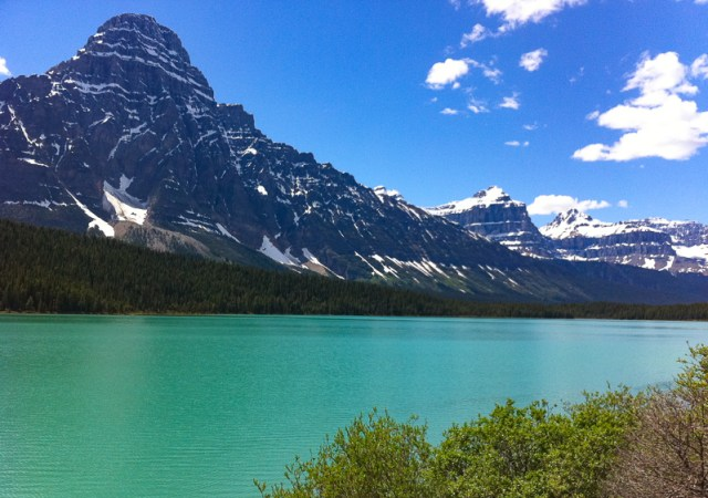 The Waterfowl Lakes along the Icefields Parkway in Alberta, Canada