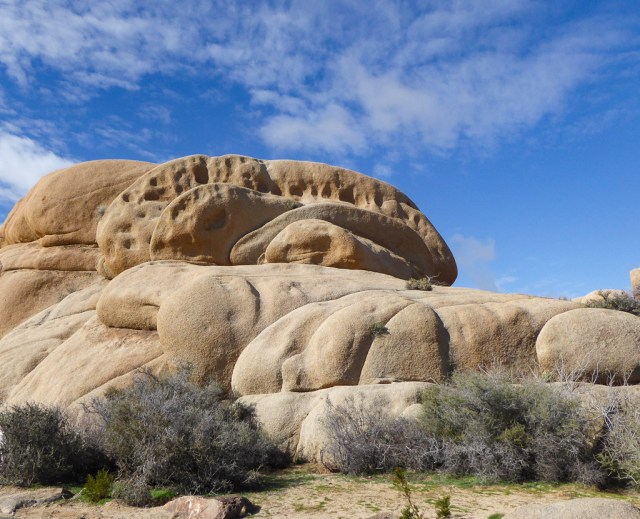 Large boulder in Joshua Tree National Park, California, USA