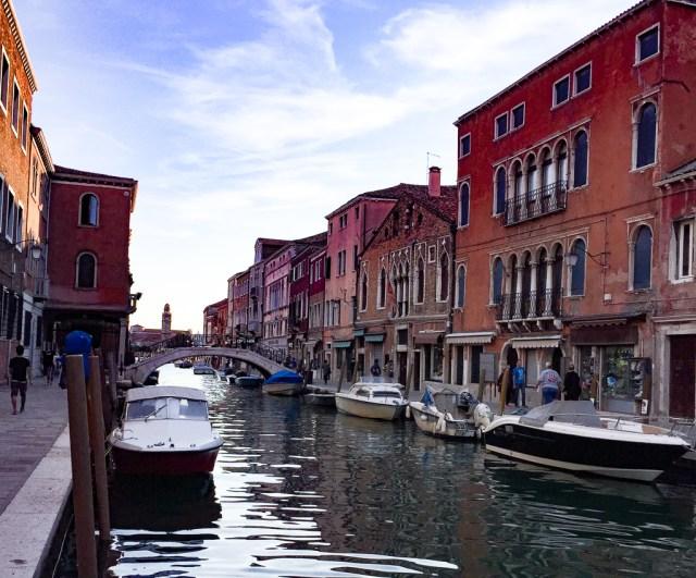 The Island of Murano in the Venetian Lagoon in Italy