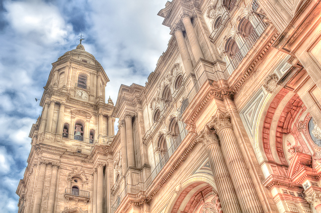 The Cathedral of Malaga in Andalusia, Spain