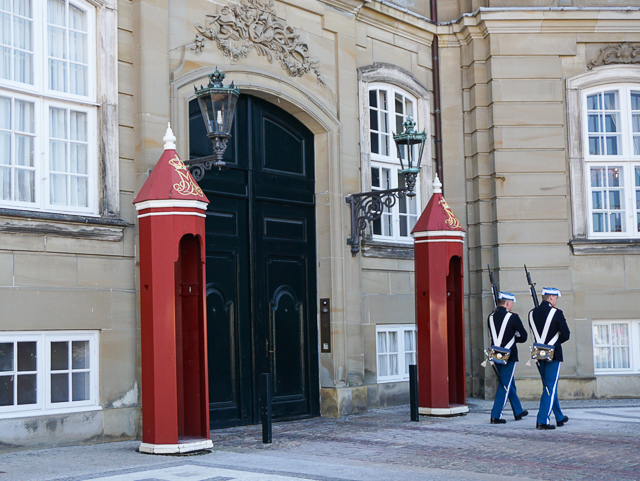 Guards at Amalienborg Palace, Copenhagen, Denmark