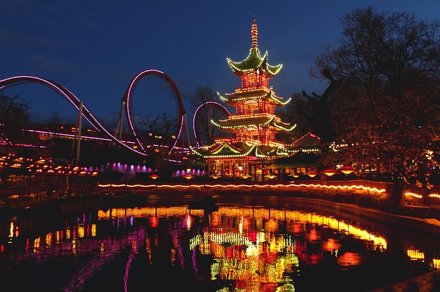 Lights at Tivoli Gardens, Copenhagen, Denmark