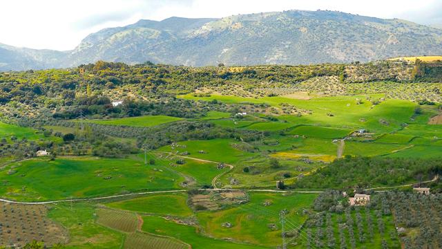 Views from Alameda del Tajo Ronda Spain
