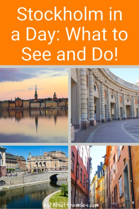If you are in Stockholm for a day, you can still see and do a lot! Walk the Old Town, admire the architecture in the city center, visit the unique Vasa Museum, and climb to the top of the City Hall Tower for awesome aerial views!