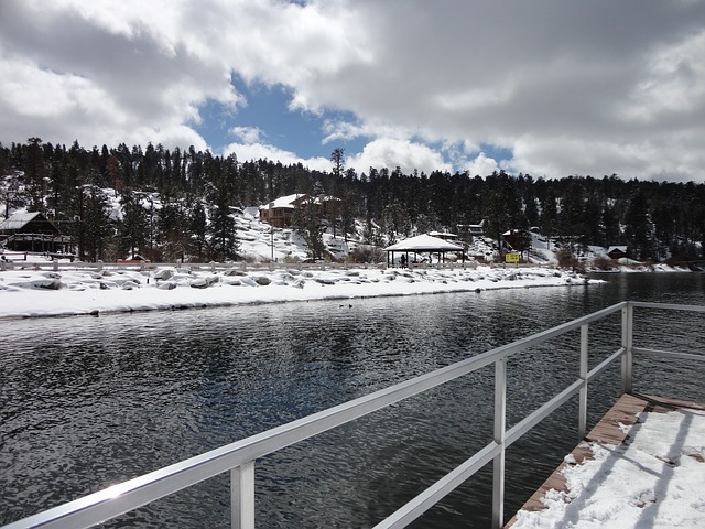 Big Bear Lake California in Winter