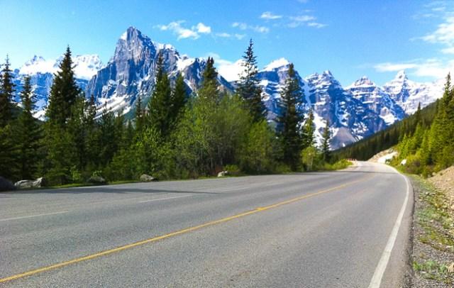 Road to Moraine Lake Alberta Canada