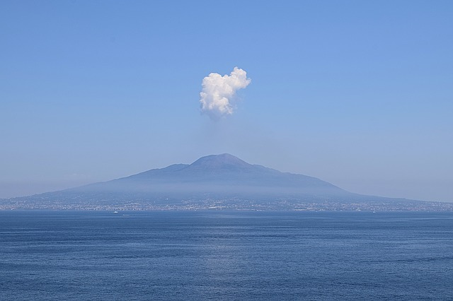 Mount Vesuvius in Campania, Italy