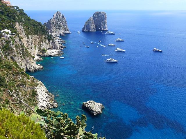 View from Isle of Capri, Italy