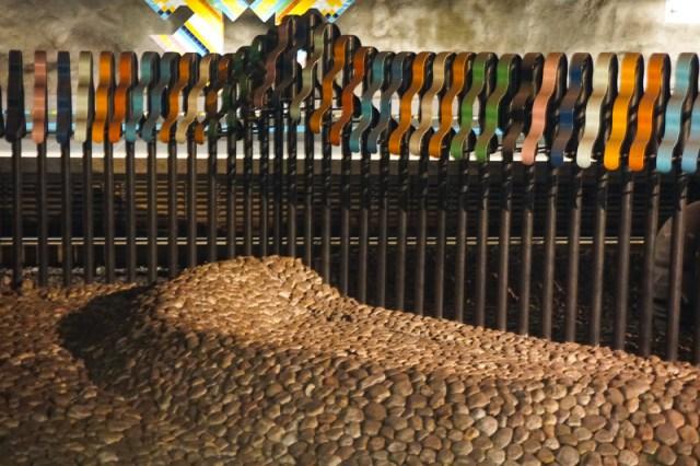 Art Display Vastra Skogen Subway Station Stockholm Sweden
