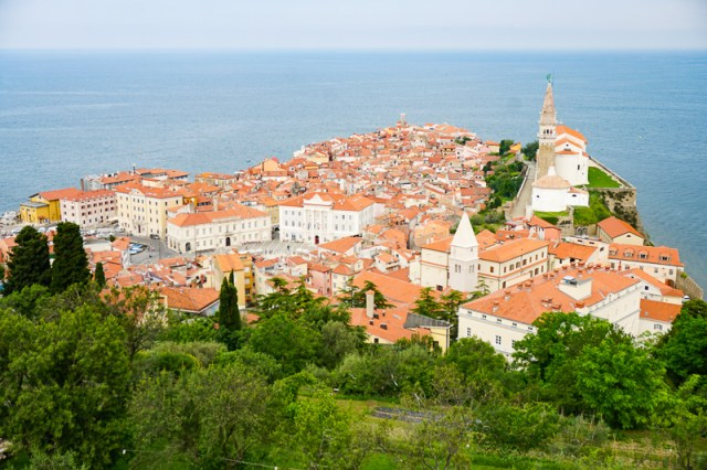 View of Piran from Town Walls