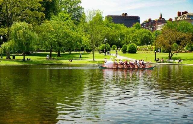 A Boston swan boat in the Public Garden