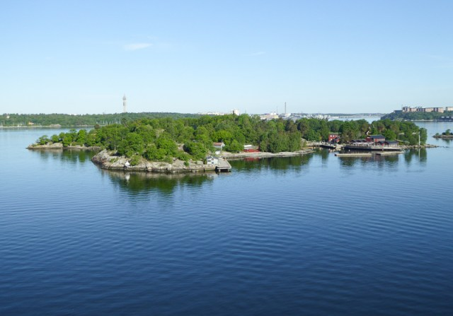 Small islet is Stockholm archipelago