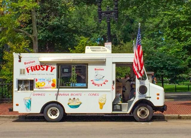 Boston Frosty Truck at Boston Public Garden
