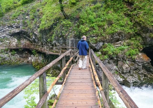 Bridge Vintgar Gorge Slovenia