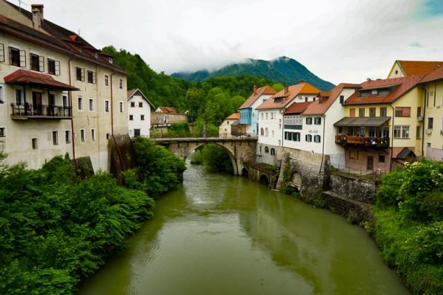 Capuchin Bridge Skofja Loka Slovenia