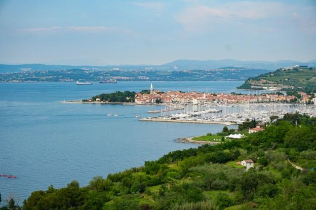 izola, on the coast of Slovenia, lies between Koper and Piran
