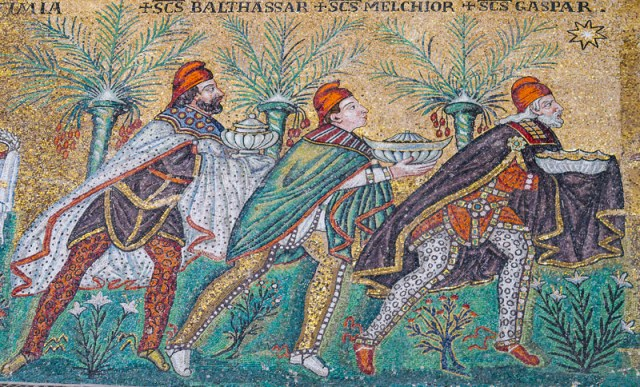 Mosaic in the Church of Sant'Apollinare Nuovo Ravenna Italy
