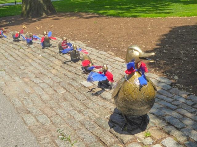Mrs. Mallard and her Ducklings Boston Public Garden