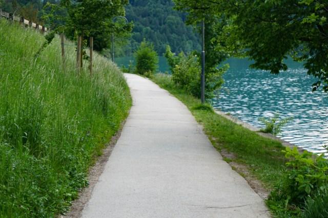 Path along the shore of Lake Bled Slovenia
