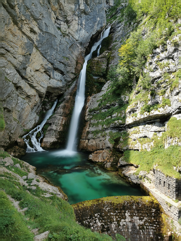 Visiting the Savica Waterfall is one of the best things to do at Lake Bohinj, Slovenia