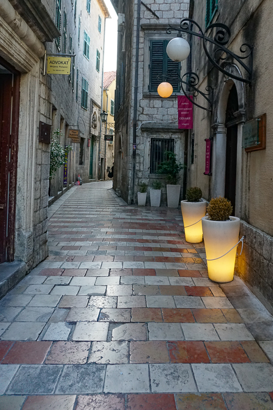 A street in Kotor in the early morning