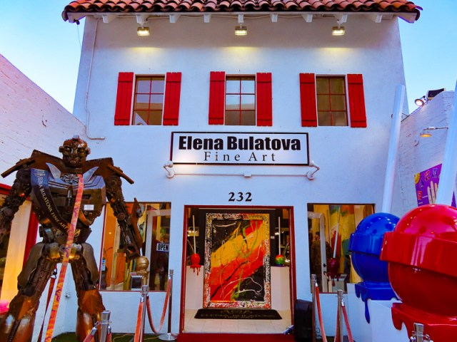 A colorful art gallery on Palm Canyon Drive in Palm Springs, California