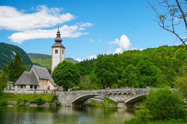Church of Saint John the Baptist Lake Bohinj Slovenia