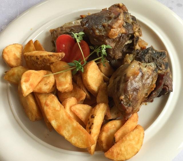 Lamb and Potatoes Main Dish at Armonia Restaurant, Persat, Montenegro