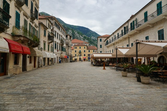 Main Square in Kotor Old Town, Montenegro