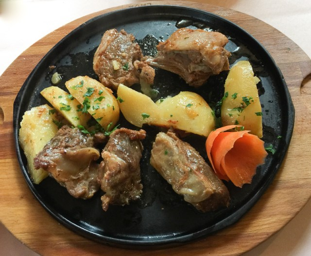 Meat and potatoes dish Montenegro