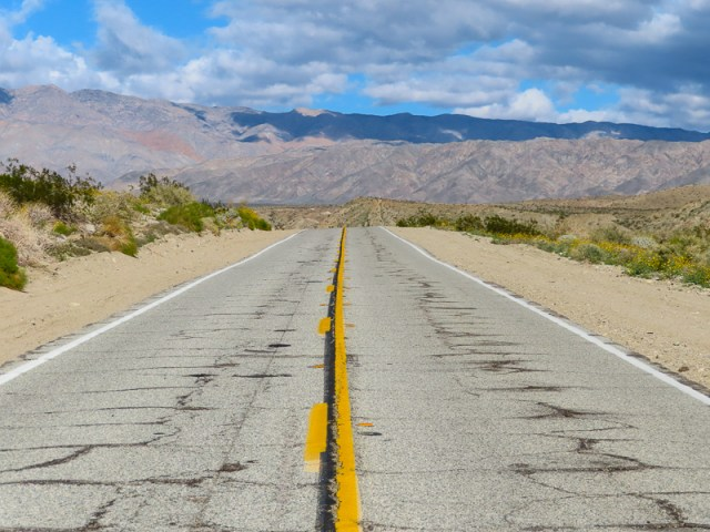 Road near Palm Springs California