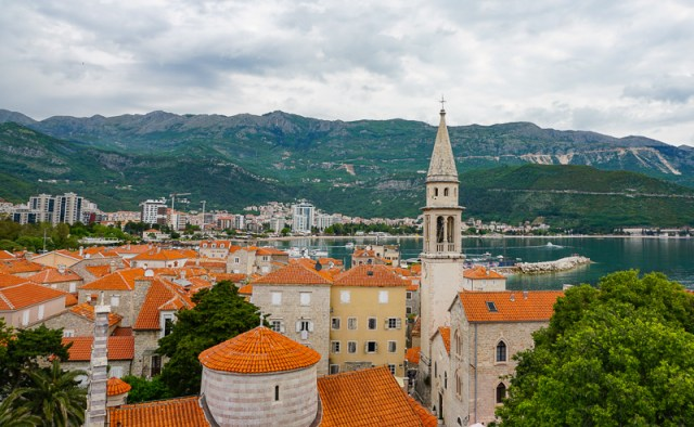 Rooftops of Old Town Budva in Montenegro