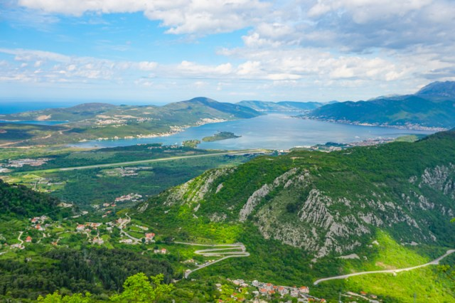 View from Kotor Serpentine Montenegro