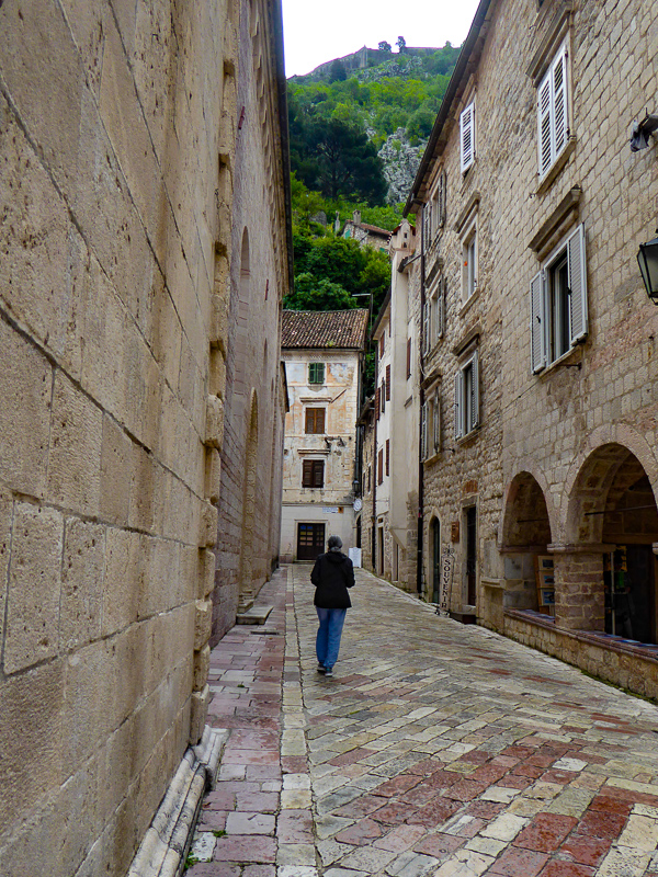 Walking the streets of Kotor, Montenegro