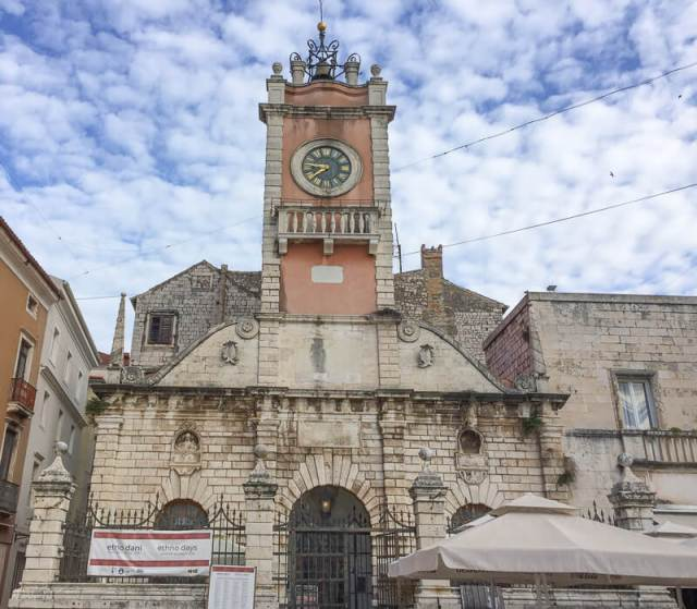 Clock Tower Narodni Trg Zadar Croatia