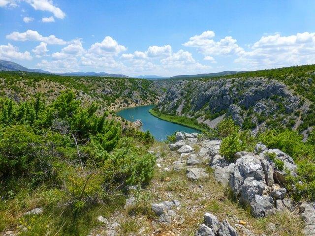 The Zrmanja River in Croatia