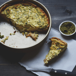 Quiche with Sun-dried tomatoes and Feta