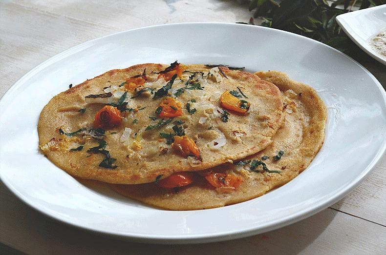 Oatmeal dosa with chutney recipe