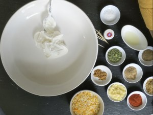 mix yogurt and all the spices to get a think chicken tandoori marinade