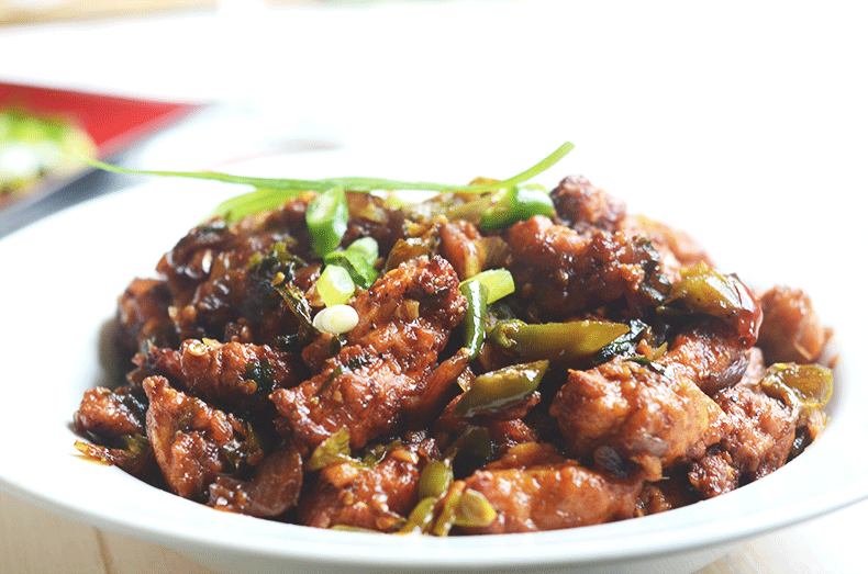 Best Kolkata style dry chili chicken recipe
