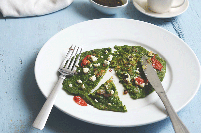 Oatmeal spinach pancakes super healthy recipe